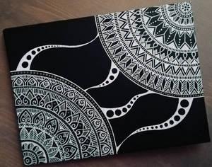 canvas on cardboard