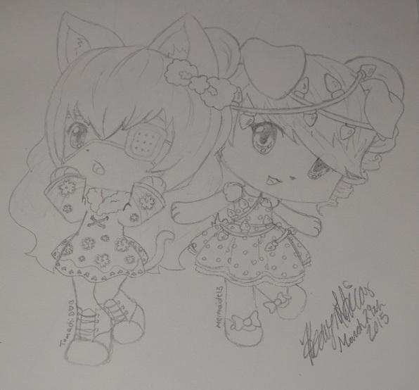 PokeMini Characters: Mermaidt13 and Tomachi by Heavonna