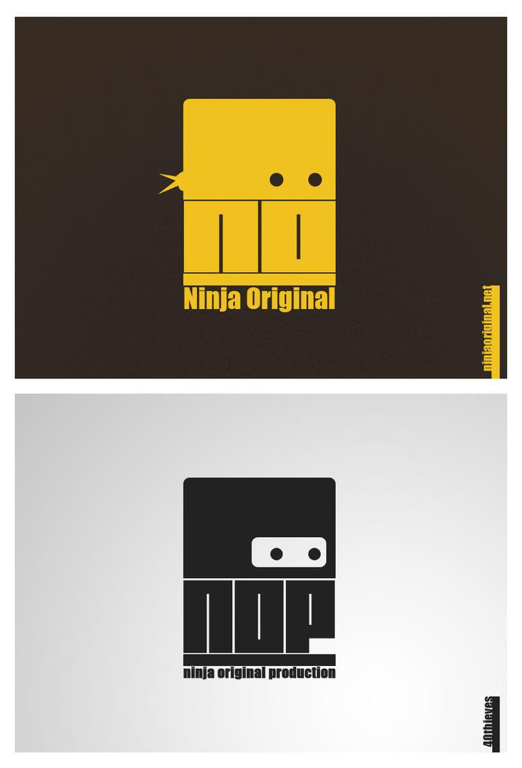 Ninja Original Logo Design by 40-thieves