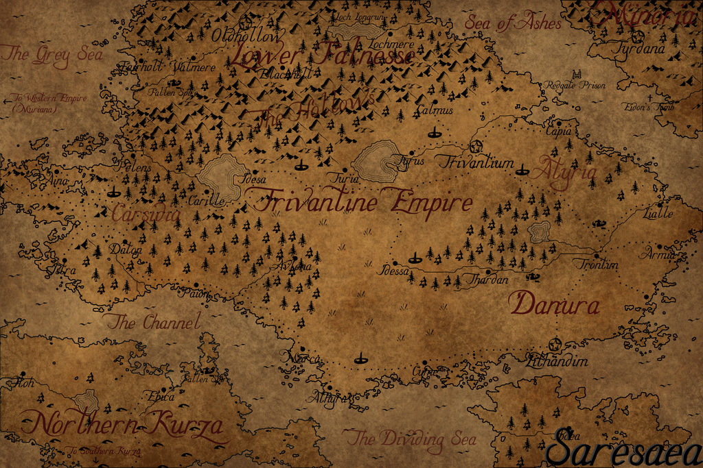 Saresaea - Fantasy Map by Cirias