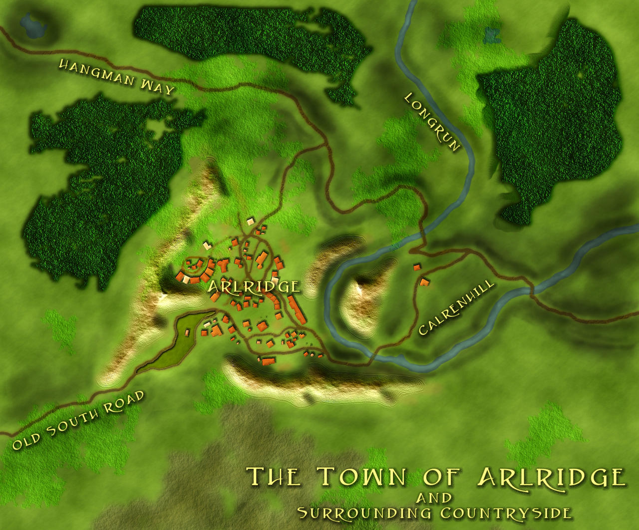 The Town of Arlridge - Fantasy Map by Cirias