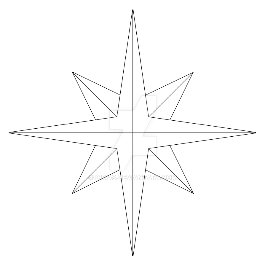 compass rose template by cirias on deviantart