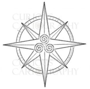 celtic compass rose template by cirias on deviantart