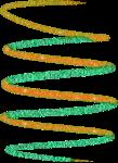 Green Orange Swirl by mjmoonwalkerfan