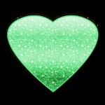 Green Heart by mjmoonwalkerfan