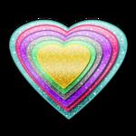 Multicolored Heart by mjmoonwalkerfan
