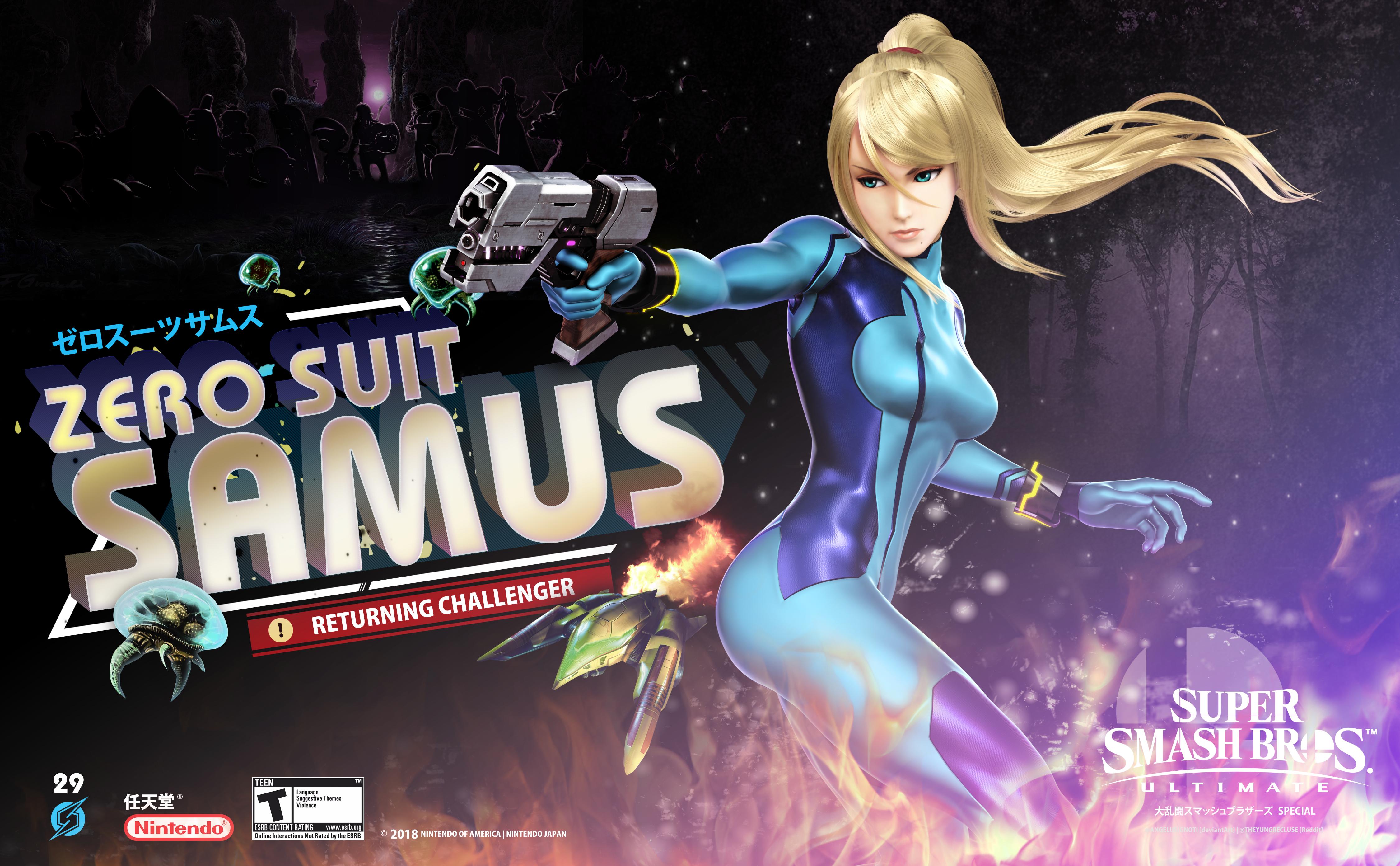 Zero Suit Samus (Super Smash Bros  Ultimate) by angelusignoti on