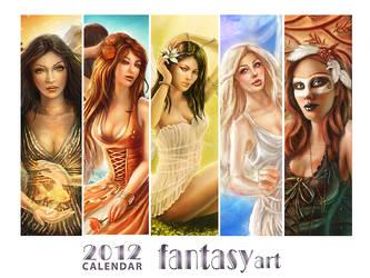2012 fantasy art calendar by ftourini