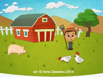 boy farmer  illustration by ftourini