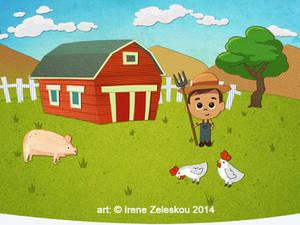 boy farmer  illustration