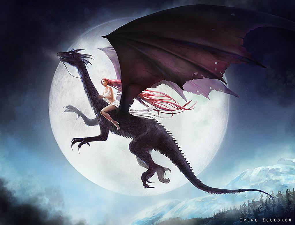 Dragon Fullmoon Night by ftourini