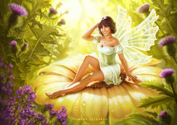 Flower Fairy Pinup