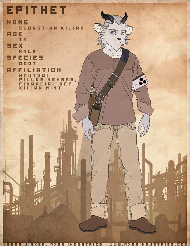 EPITHET comic char: Sebastian by JayAxer