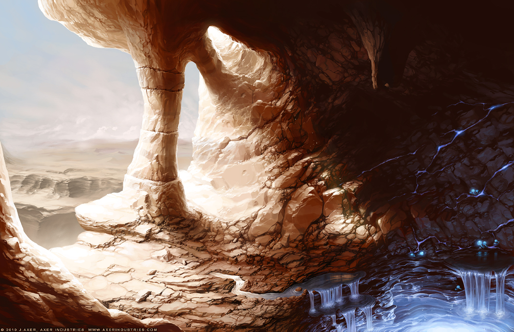 Desert Cavern by JayAxer