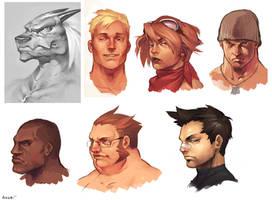 Heads by JayAxer
