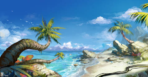 Firefall Beach Scene Ad by JayAxer