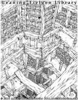 Leaning Tielgen Library by JayAxer