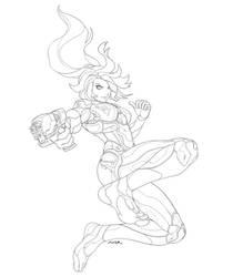 Samus Suit Commission by JayAxer