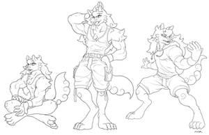 Cane the Cotton Candy Werewolf by JayAxer