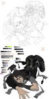 Kita: Painting Progress Shots
