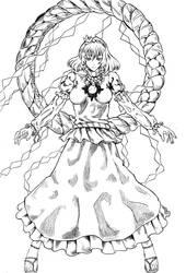 Kanako Yasaka -uncolored-