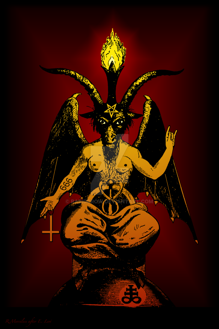 Satanic goat baphomet the horned god satan by rabidcrow on deviantart satanic goat baphomet the horned god satan by rabidcrow buycottarizona Images
