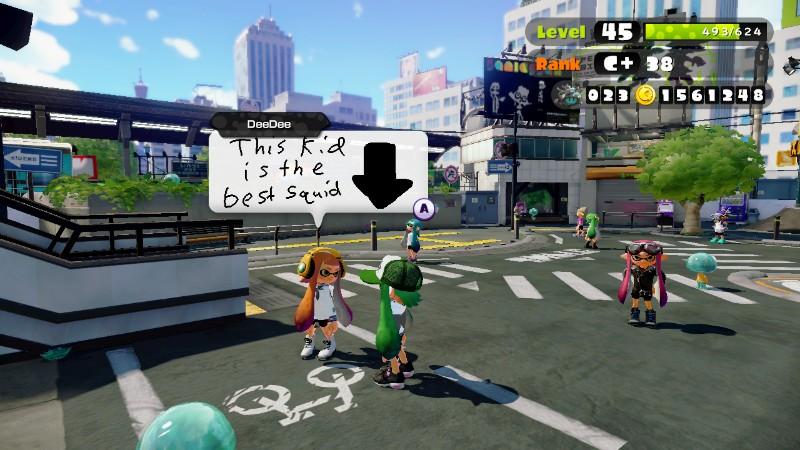 Squid Boasting by PokeMarioFan14