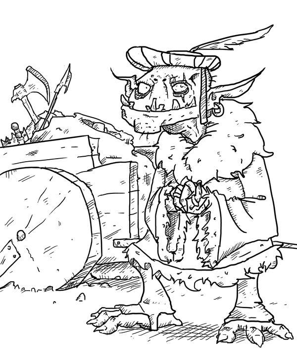 Galdra ITSURG Goblin Merchant by TicklishSocks
