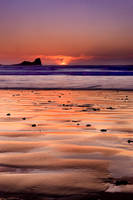 Gower Sunset II by ACPhotography