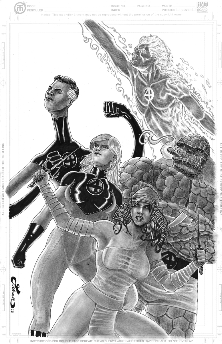 Elektra and Fantastic Four by fixart