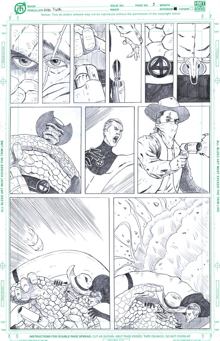 Fantastic Four Page 5 by fixart