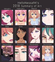 2018 Art Summary by HelloNessa94