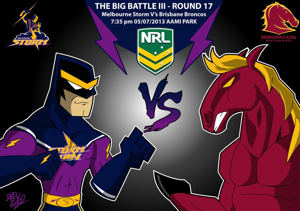 Melbourn Storm Vs Brisbane Broncos  By Drewb