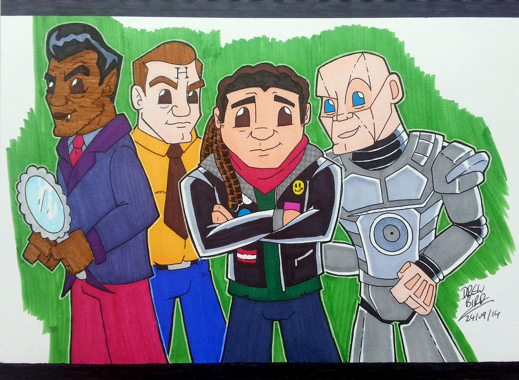 Red Dwarf Crew by Drew0b1