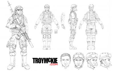 Original Character Model Sheet by thedream86