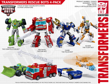 Transformers Generations Style Rescue Bots Mock-Up