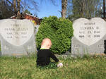 My son and his great grandparent's grave