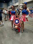 Captain America and the dancing girls