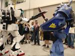 Voltron vs Gundam cosplay