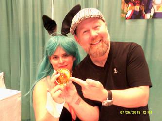 Bunny Bulma and Chris Sabat