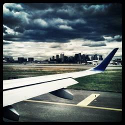 Angry Skies Before Takeoff by bobweb