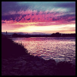 Sunset at the Canal by bobweb
