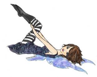 Lying down fairy by essbeevee