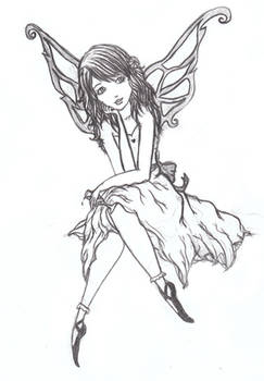 Wasted Fairy - uncoloured