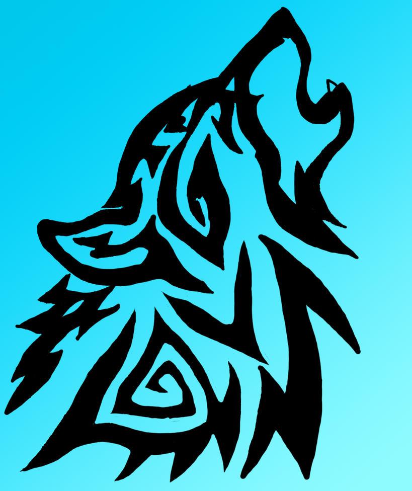 Tribal Wolf Wallpaper: Tribal Wolf By AustinsAnime On DeviantArt