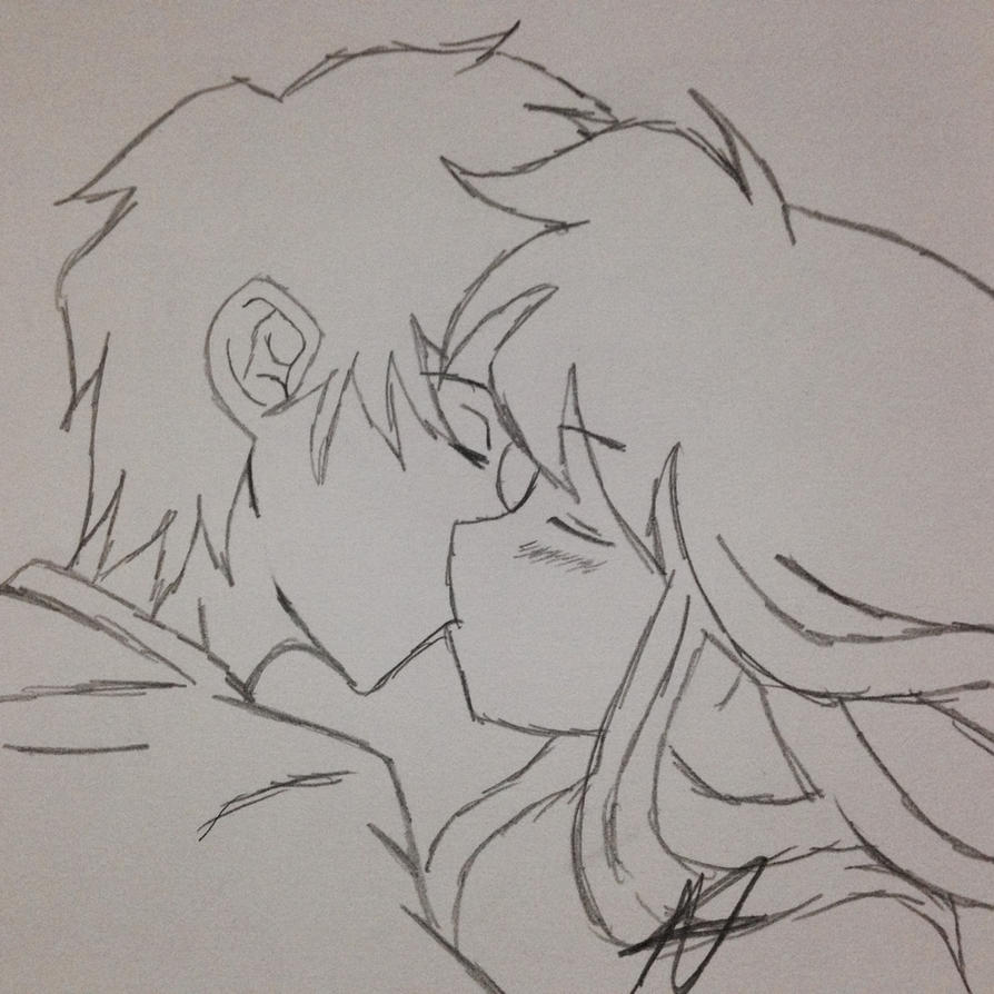 Line Drawing Kiss : Anime kiss line art by austinsanime on deviantart