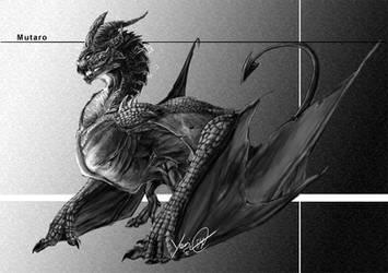 Dragon WIP black and white by YeriDG