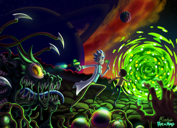 Run | Rick and Morty by SimplEagle