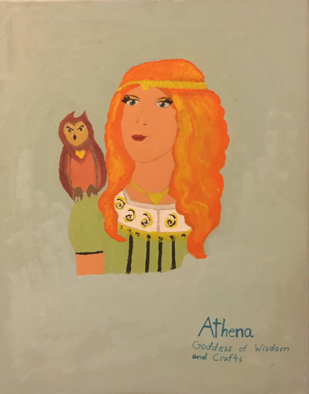 Athena: Goddess of Wisdom and Crafts by Infinity-Drawings