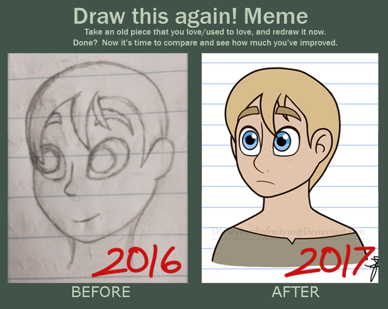 Draw this again meme by Infinity-Drawings